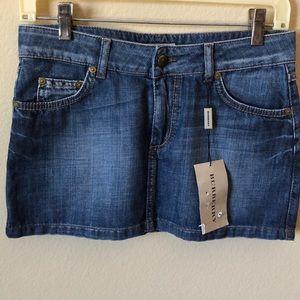 BURBERRY Denim Miniskirt